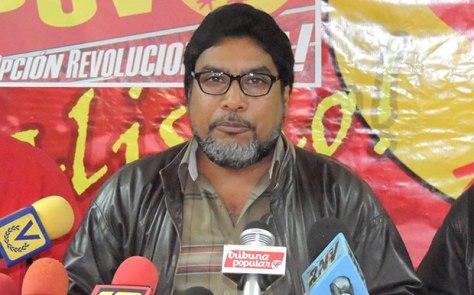 Oscar Figuera, secretario general del Comité Central del Partido Comunista de Venezuela