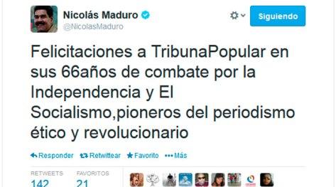 Mensaje enviado a Tribuna Popular por su cuenta Twitter.