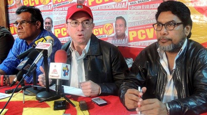 Miembros del Buró Político del Partido Comunista de Venezuela (PCV).