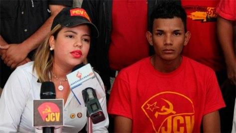 Janohi Rosas, Secretaria Nacional de Organización de la Juventud Comunista de Venezuela (JCV)