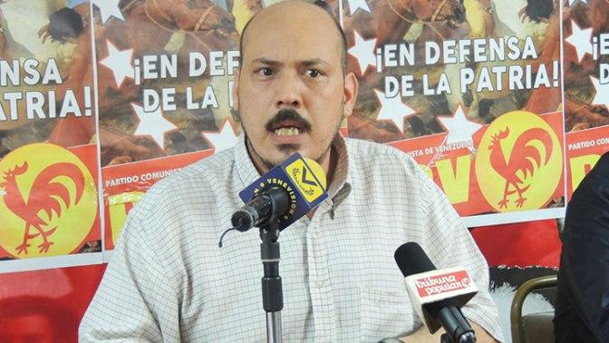 Carlos Aquino, miembro del Buró Político del Partido Comunista de Venezuela (PCV)
