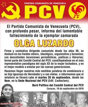 Olga Luzardo, PRESENTE