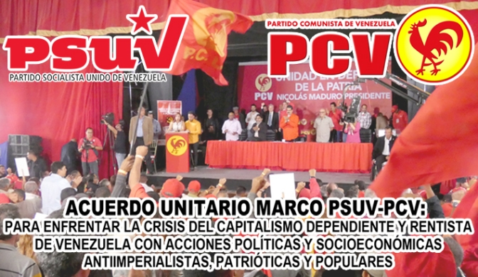 Texto del «ACUERDO UNITARIO MARCO PSUV-PCV»